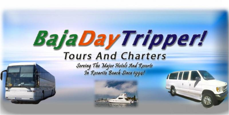 "BajaDayTripper.com Logo ""Small Groups, Grand Service!"""